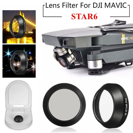 99.5% VLT Utral-thin spare parts HD Glass Lens Filter Cap Cover STAR6 for DJI Mavic PRO RC Drone Camera Spare (Glasses Spare Parts)