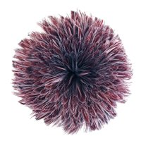 """Zucker Feather Products Rooster Hackle - Dyed Furnace - 4-6"""" x 1 yd - Amethyst"""