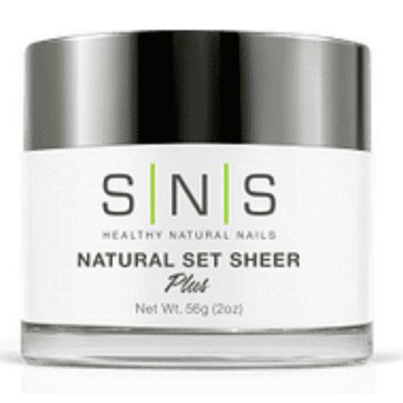 SNS Pink and White French Dipping Powder 2oz Free Shipping! NO U/V NO SMELL (Natural Set Sheer 2 oz) ()