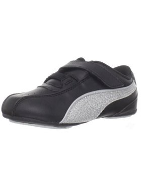 1ce8752f8d11 Product Image Puma Tallula Glamm V Little Kids Girls Sneaker Velcro Shoes -  Black and White