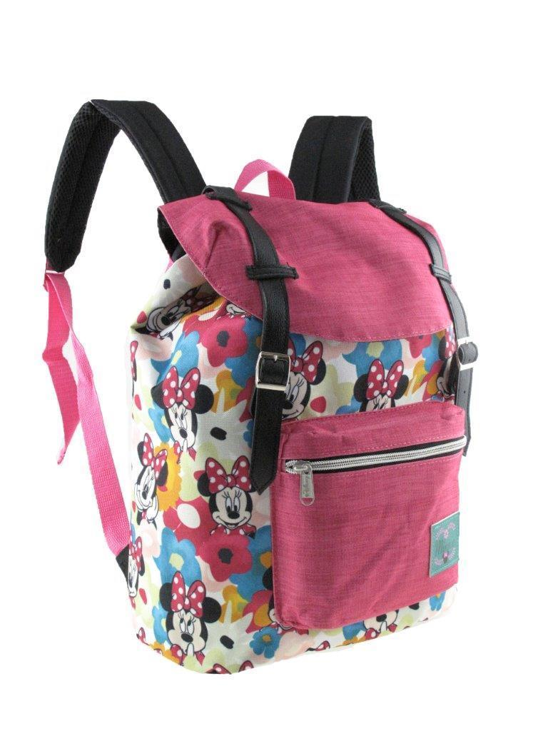 """New Disney Mickey Mouse Allover Pattern Preppy Vintage Style 16/"""" School Backpack"""