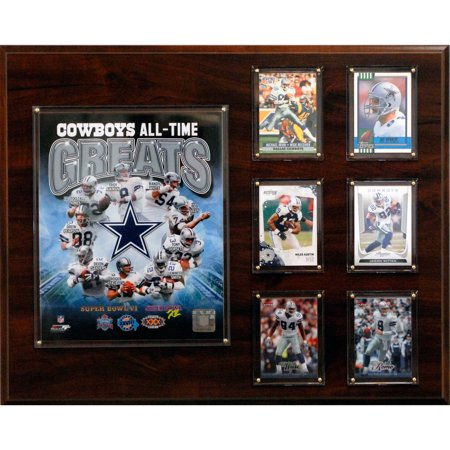 C&I Collectables NFL 16x20 Dallas Cowboys All-Time Greats Photo Plaque - Dallas Cowboys Office Supplies