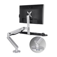 "Loctek S2M Height-Adjustable Sit Stand Mount, Standing Mount, Sit to Stand Workstation, Monitor and Keyboard Mount, Fits 10"" - 30"" 19, 20, 21, 22, 23, 24, 27, 30 Inch Monitors"