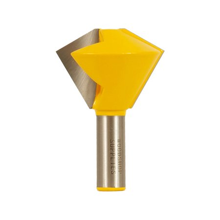 Bird's Mouth Glue Joint Router Bit - 6 & 12 Sided - 1/2