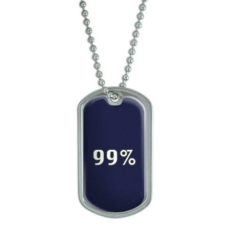 99 Percent - Occupy Dog Tag - Halloween 99 Percent