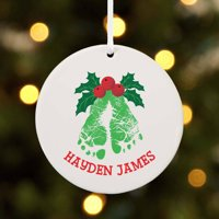 Personalized Mistletoes Baby's First Christmas Ornament