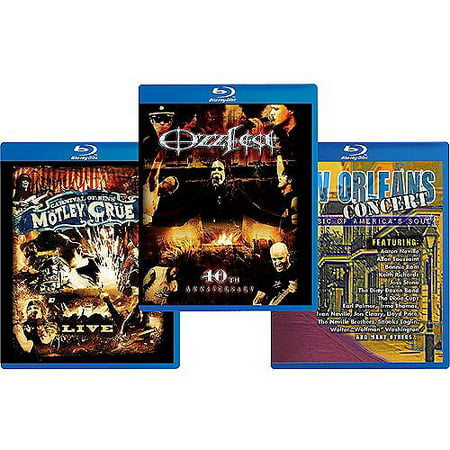 The Essential Concert Hot Spot: Ozzfest: 10th Anniversary / Motley Crue: Carnival Of Sins / New Orleans Concert: The Music Of America's Soul (Blu-ray)