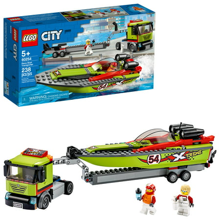 LEGO City Race Boat Transporter 60254 Vehicle Building Set for Kids (238 Pieces)