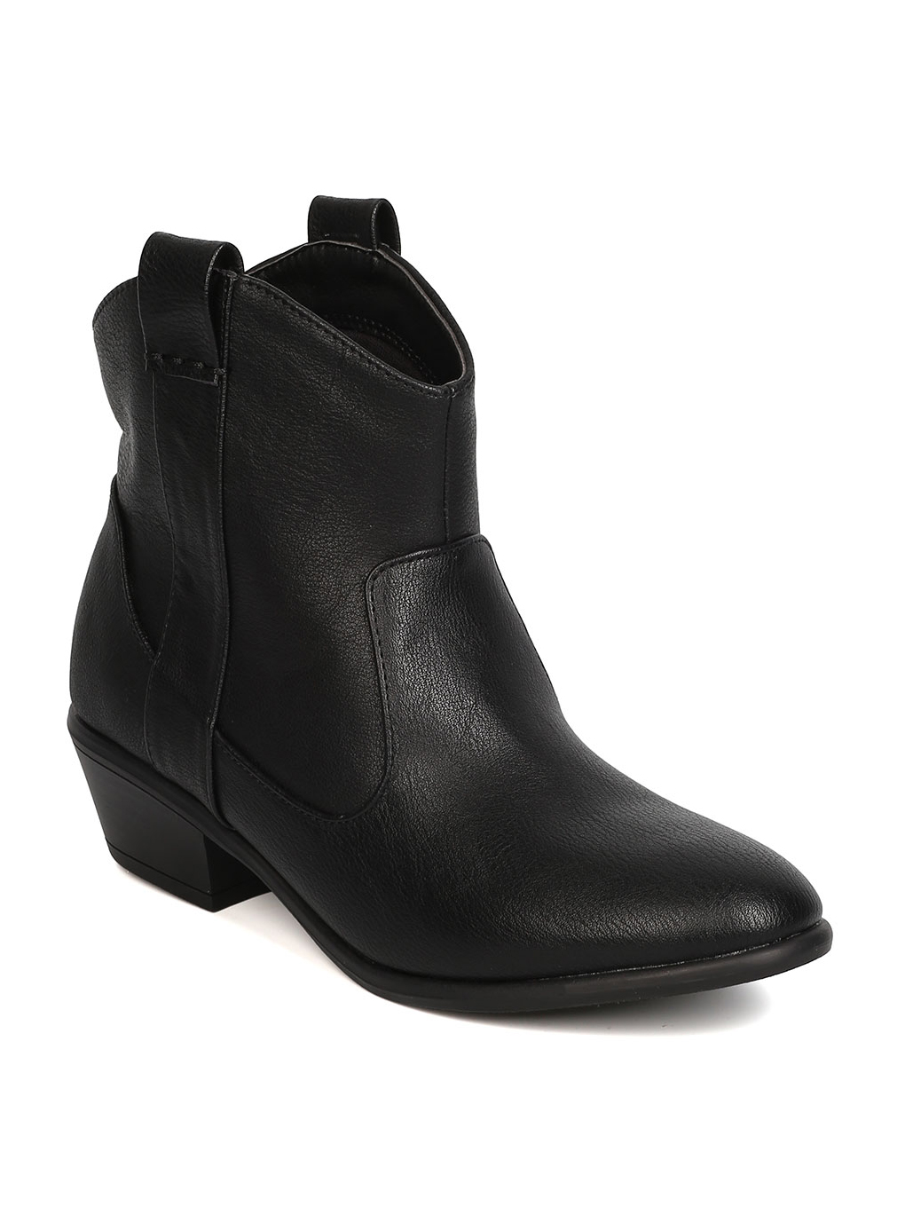 New Women Wild Diva Manny-17 Leatherette Stacked Heel Cowboy Bootie