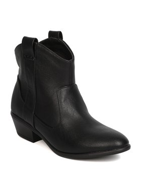 aa2491db6745 Product Image New Women Wild Diva Manny-17 Leatherette Stacked Heel Cowboy  Bootie