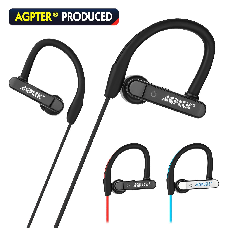 AGPtek Waterproof B luetooth Earbuds Beats Sports Wireless Headphones in Ear Headsets,color Black