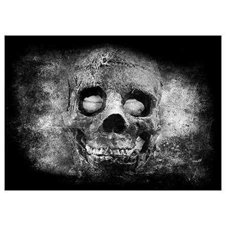 ABPHOTO Polyester Photography Background Photo Backdrops Magic Theme Photography Studio background Props Skull head for Halloween 7x5ft