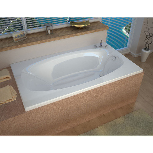Spa Escapes St. Kitts 71'' x 41.25'' Rectangular Whirlpool Bathtub with Reversible Drain