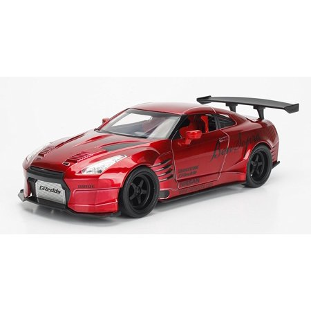 2009 GT-R (R35) Ben Sopra Red JDM Tuners 1/24 by Jada 99215, Rubber tires. Brand new box. Detailed interior, exterior. Opening doors and hood. Made of diecast.., By Nissan