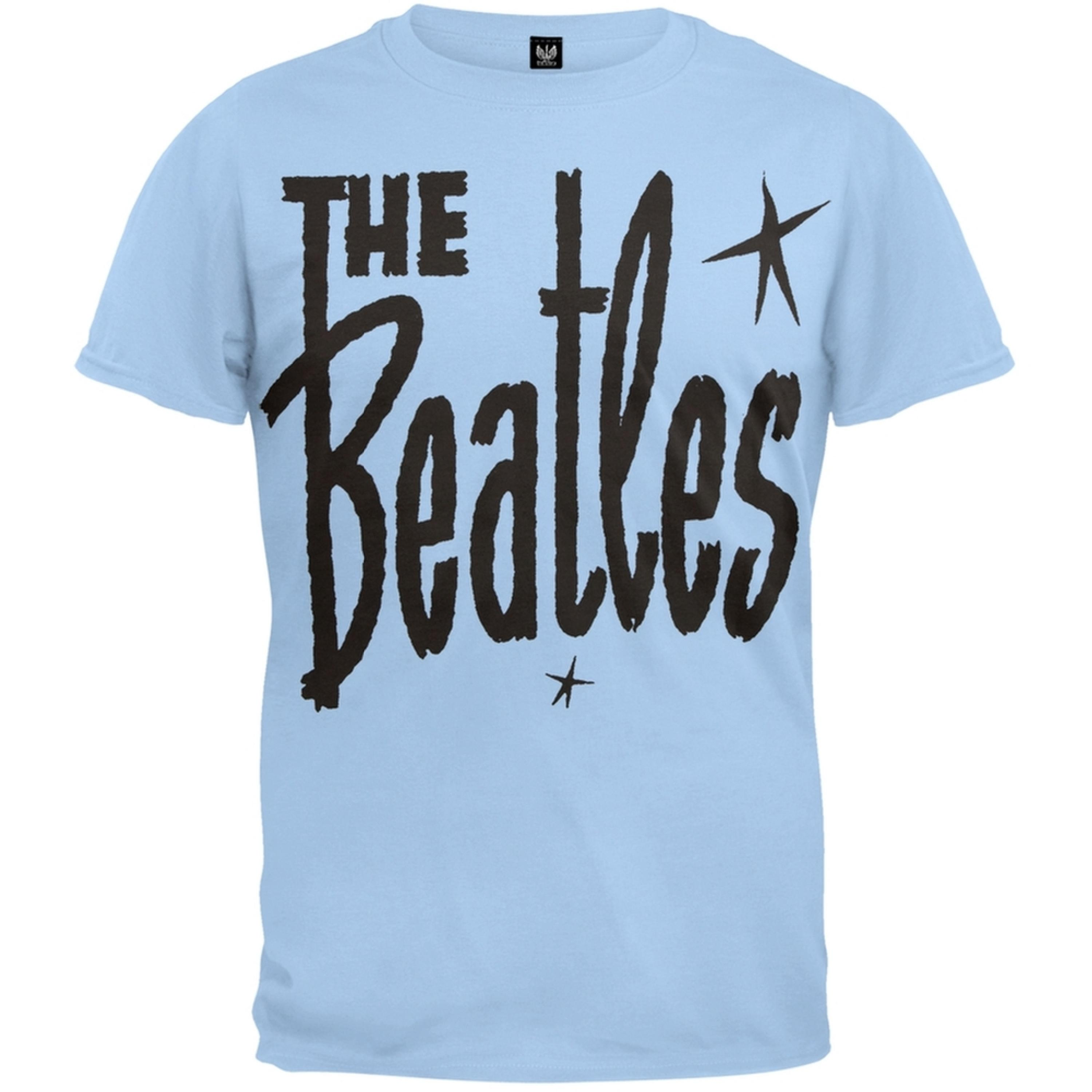 Beatles Men's  Retro Star Logo T-shirt Blue