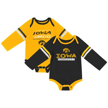 Iowa Hawkeyes Colosseum INFANT Boy's LS One Piece Outfit 2 Pack