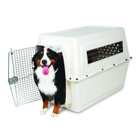 Petmate Vari Kennel Plastic Dog Crate, Bleached Linen, X-Large, 48