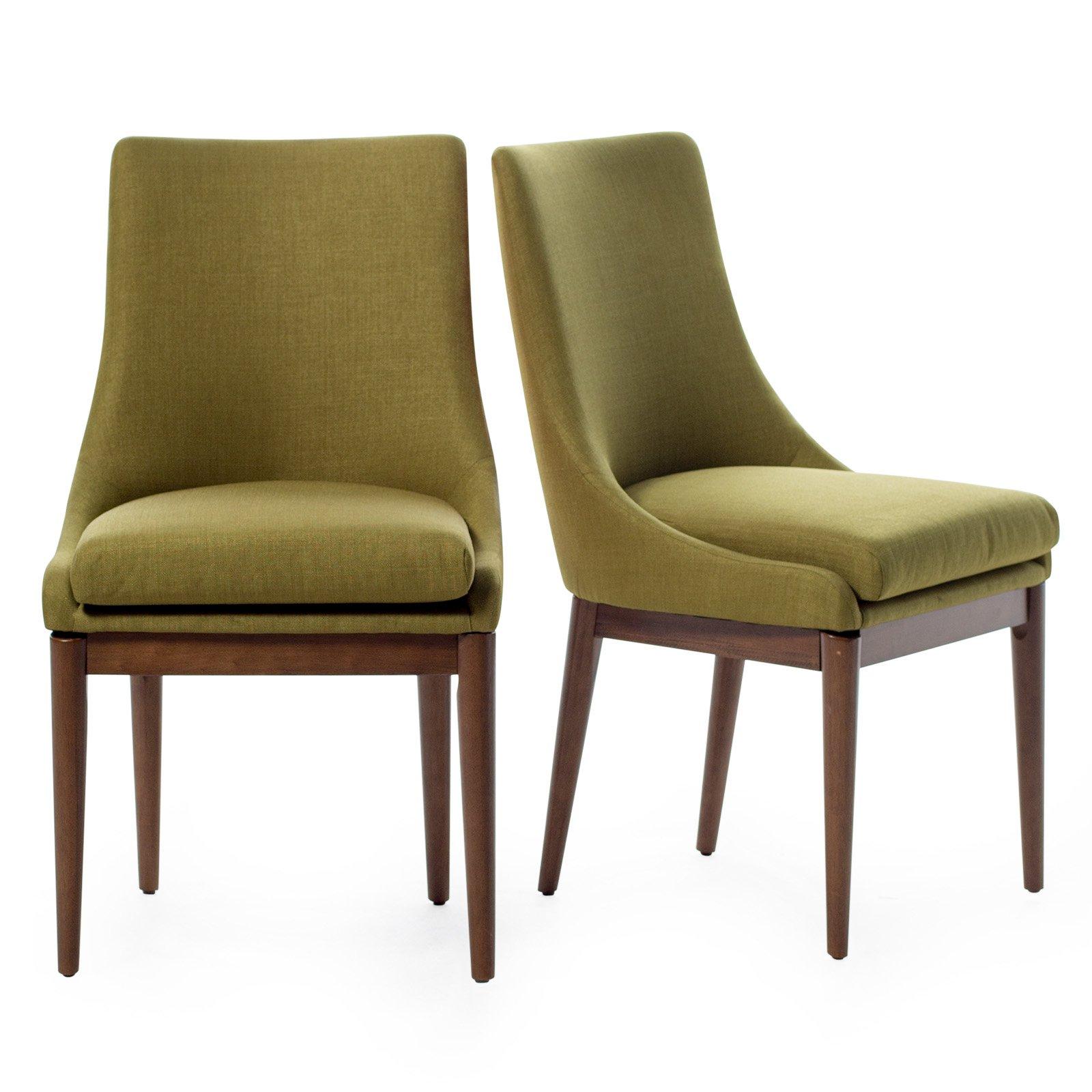 Belham Living Carter Mid Century Modern Upholstered Dining Chair - Set of 2