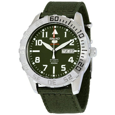 5 Sports Automatic Green Dial Mens Watch Srp751k2