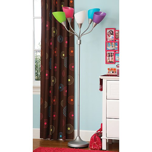 Your zone high five floor lamp wcfl bulb pink multi walmart aloadofball Image collections