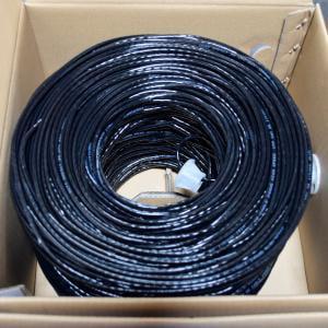 BULK 1000FT CAT5E BLACK UTP 24AWG CCA NETWORK CABLE 4PR