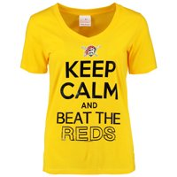 Pittsburgh Pirates 5th & Ocean by New Era Women's Keep Calm Rivalry V-Neck T-Shirt - Yellow