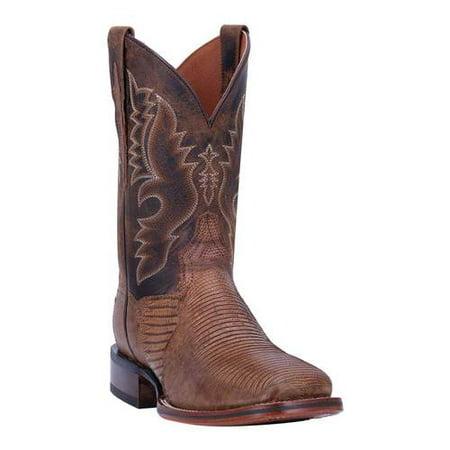 Men's Dan Post Boots Thompson Cowboy Boot DP4869 Black Lizard Cowboy Boots