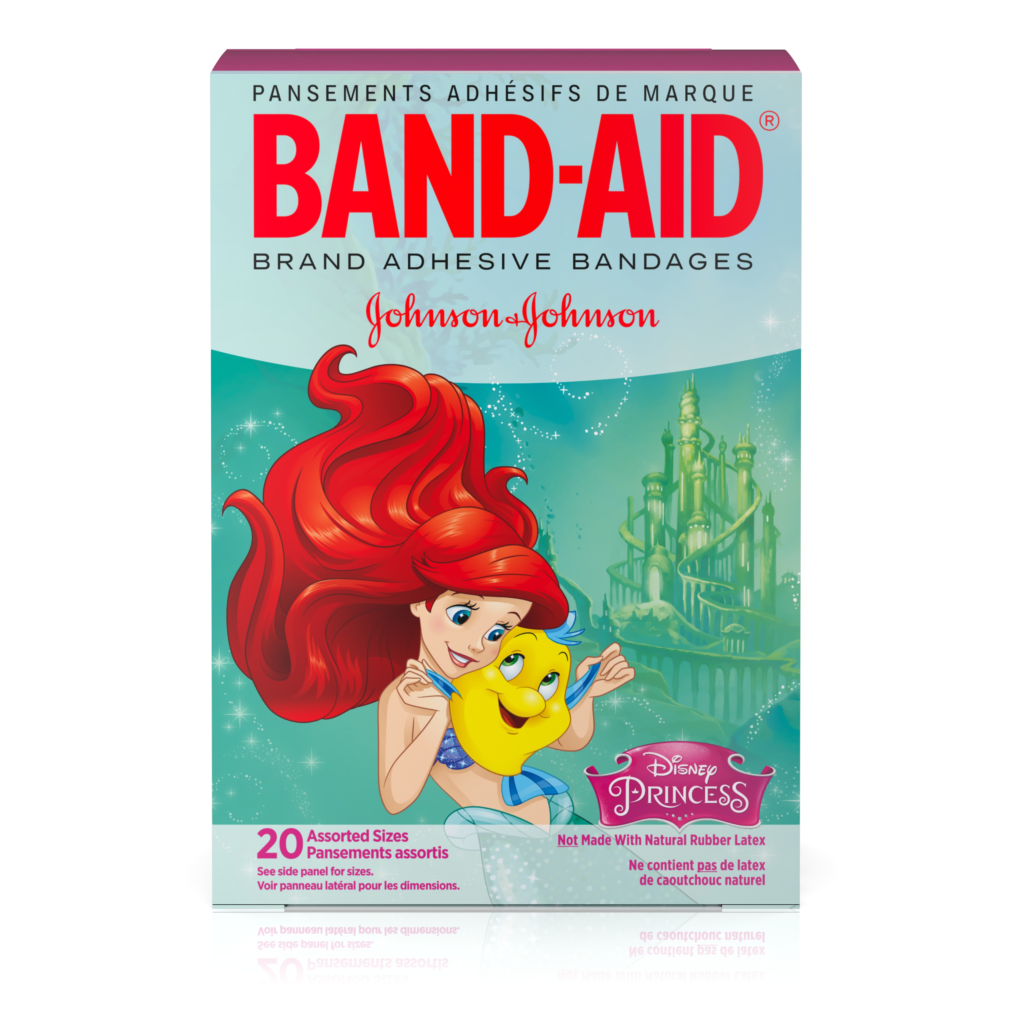 Band-Aid Adhesive Bandages, Disney Princesses, Assorted Sizes 20 ct