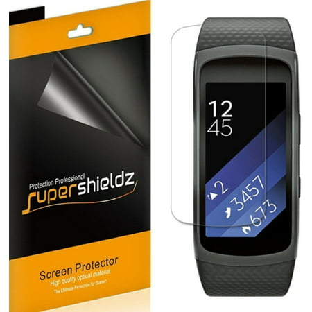 [6-Pack] Supershieldz for Samsung Gear Fit 2 Pro  Screen Protector, [Full Screen Coverage] Anti-Bubble High Definition (HD) Clear