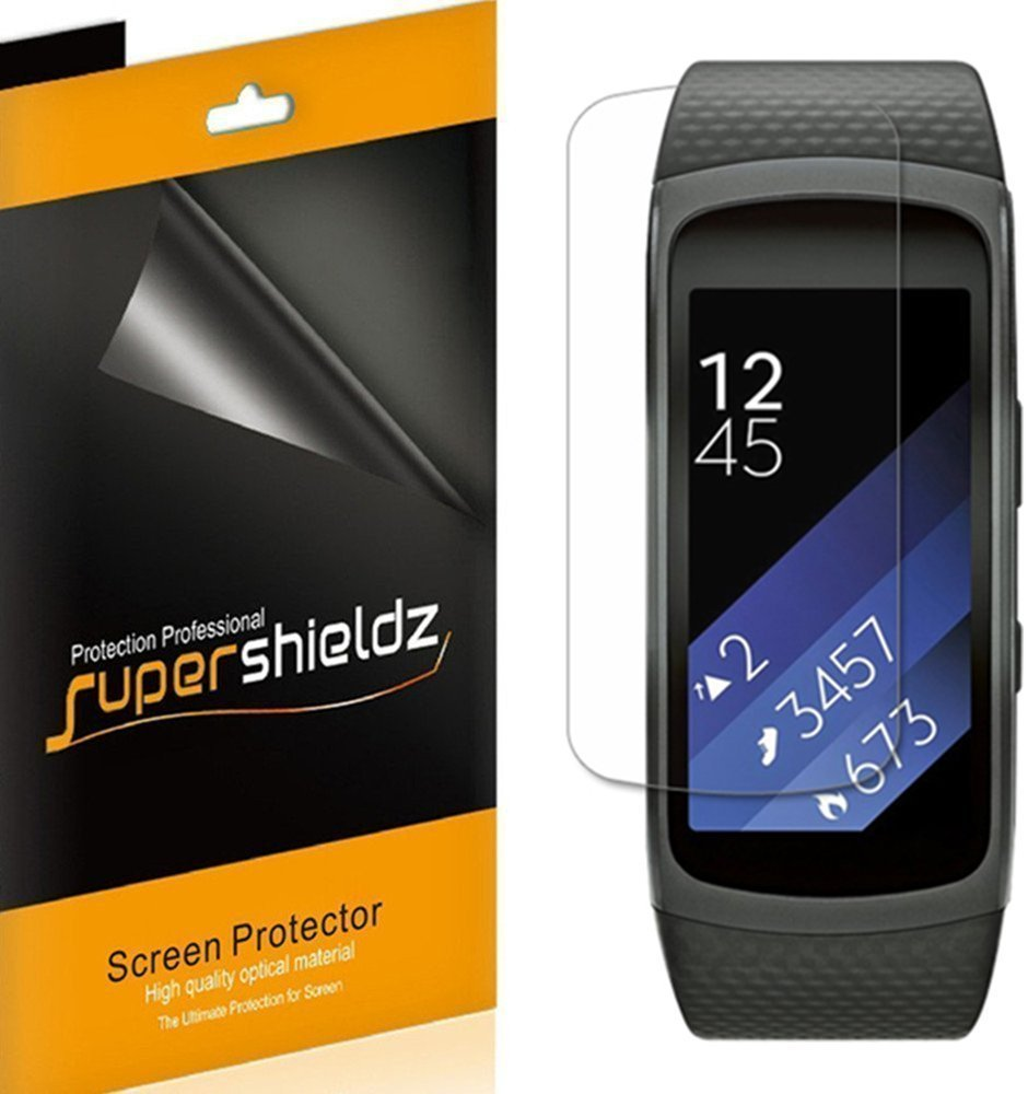 [6-Pack] Supershieldz  Samsung Gear Fit 2 Pro  Screen Protector, [Full Screen Coverage] Anti-Bubble High Definition (HD) Clear Shield