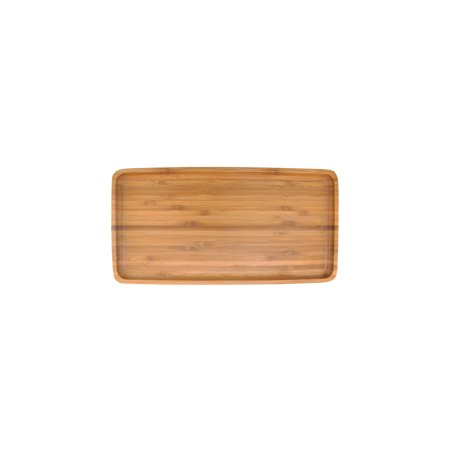 BambooMN Bamboo Wooden Small Organic Tea Serving Tray - Rounded Edges - 11