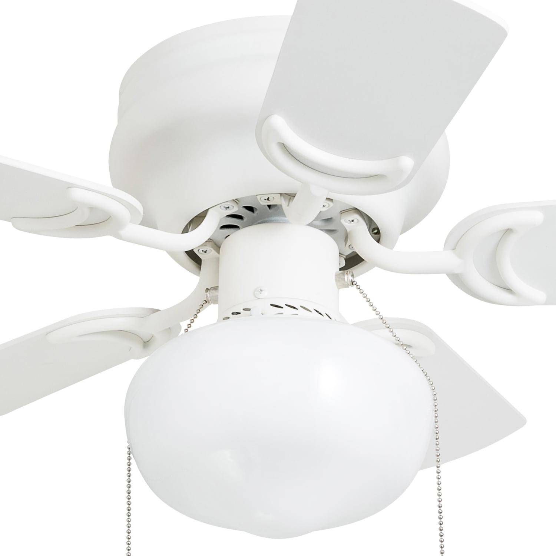 Hero 28 White Small Ceiling Fan