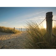 Island Way Outdoor Beach Walk Photographic Print on Canvas