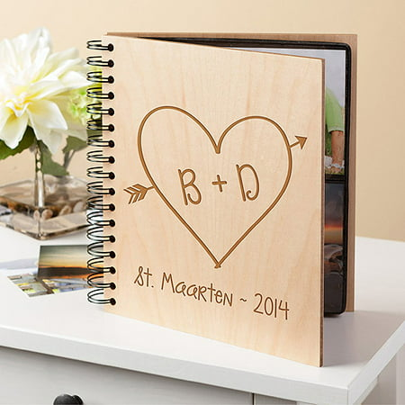 Personalized Wedding Albums (Personalized Photo Album - Heart Of)
