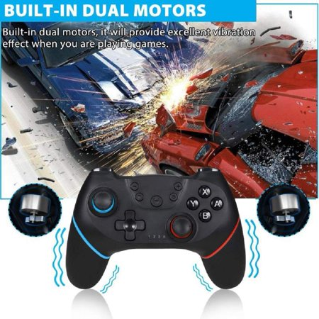 Wireless Controller for Nintendo Switch Pro,Remote Controller Gamepad Joypad for Nintendo Switch Console w/ Gyro Axis, Turbo Dual Vibration - image 5 of 9
