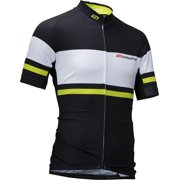 Bellwether Men's Pinnacle Cycling Jersey: Black/Hi-Vis LG