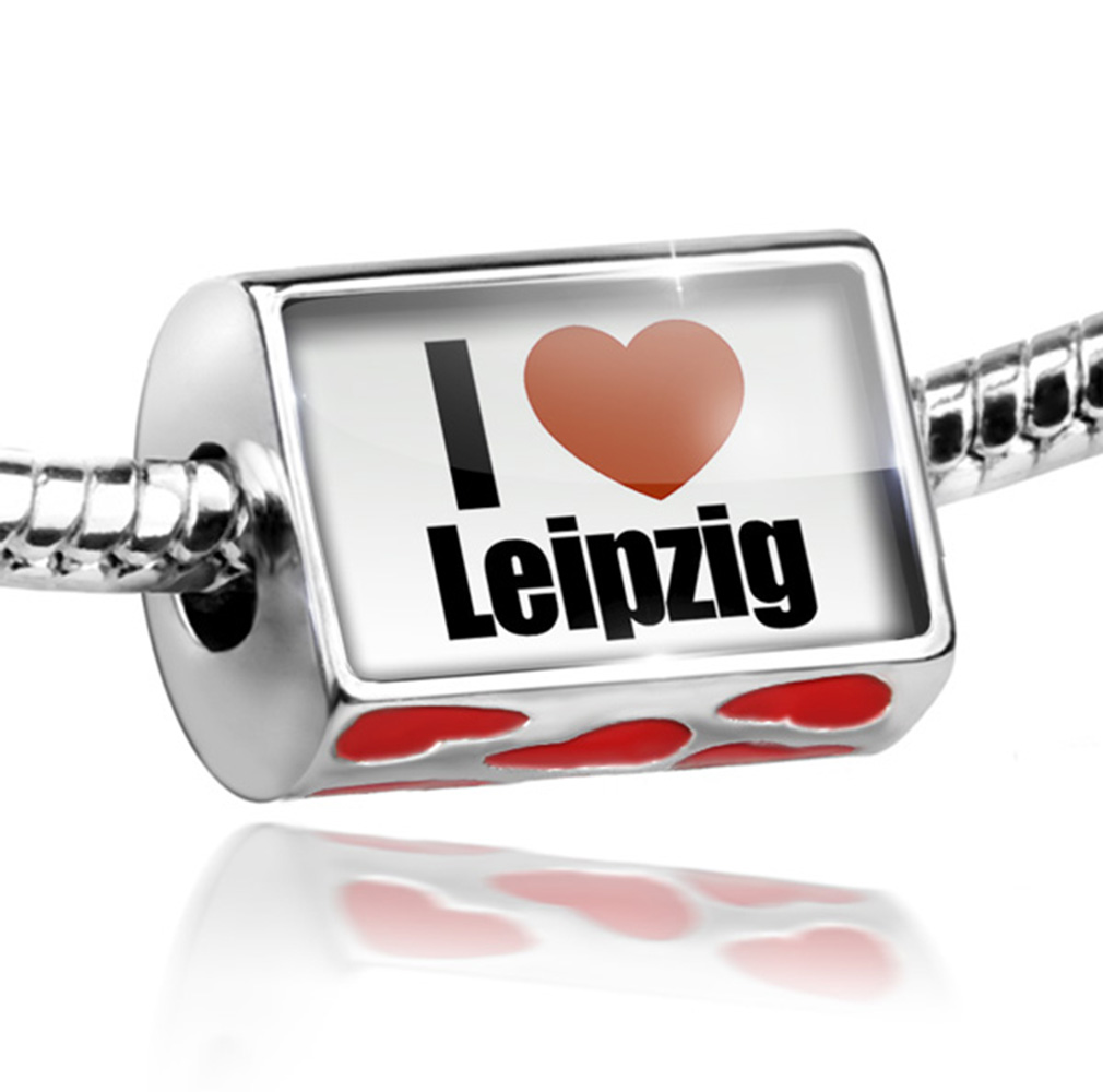 Bead I Love Leipzig region: Sachsen, Germany Charm Fits All European Bracelets