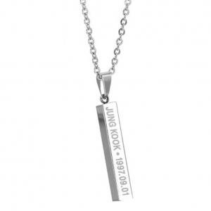 Fancyleo BTS Boys Alloy Pendant Necklace Hot Gift for A.R.M.Y, 1Pcs/Set - Communion Gift For Boy