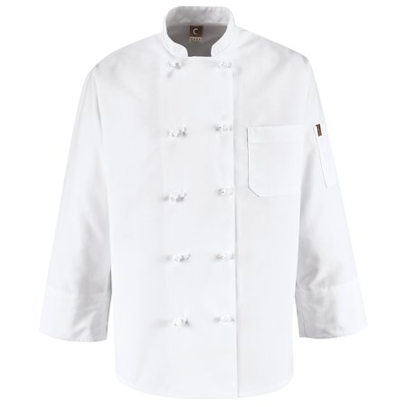Men's Ten Knot Button Chef Coat (Chefs Coat)