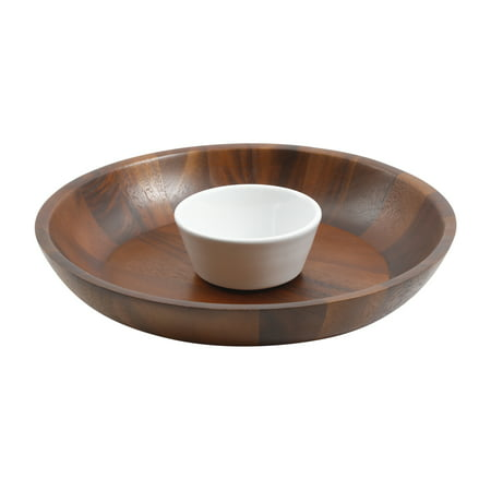 2-Piece Chip & Dip with Ceramic Bowl Set