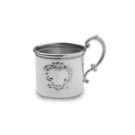 Pewter Raised Design Beaded Baby Cup Pewter Raised Design