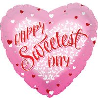 "Sweetest Day Hearts 17"" Mylar Balloon Bulk (5 Pack)"