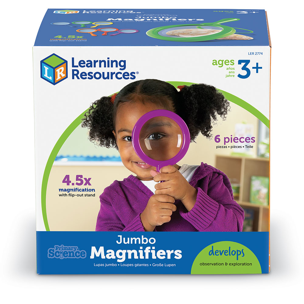 Learning Resources Primary Science Jumbo Magnifiers Set