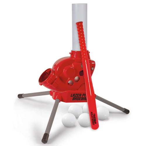 Lazer Pitch Baseball Pitching Machine with Bat and Balls