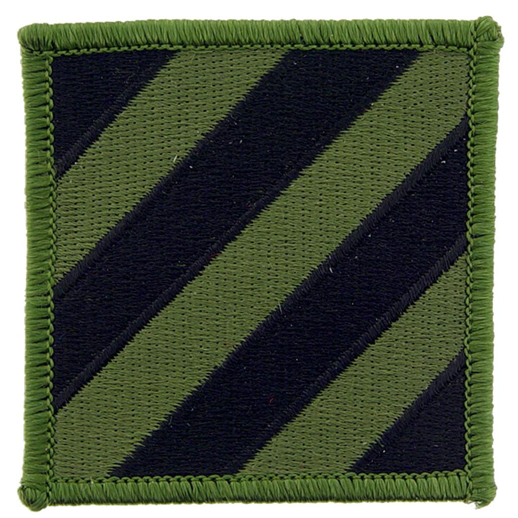 """U.S. Army 3rd Infantry Division Patch Green 3"""""""