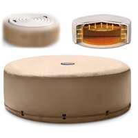 Intex Energy Efficient Cover for 4-Person Round Portable Inflatable Hot Tub Spa