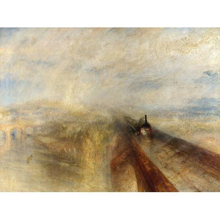 Rain, Steam And Speed, The Great Western Railway Poster Print by Turner