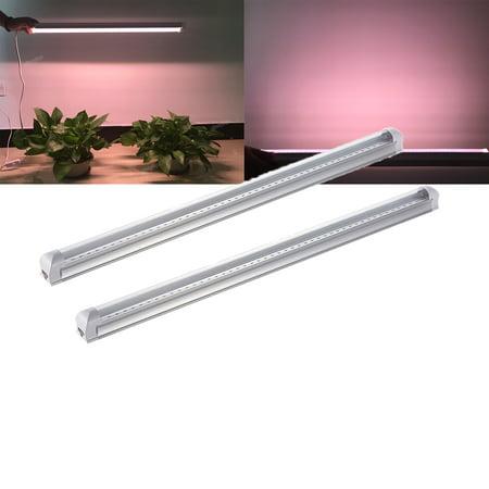 2X 2FT Clear LED Grow Light Full Spectrum Indoor Plant Vege Tubes Light