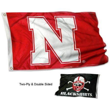- Nebraska Cornhuskers Blackshirts Double Sided Flag