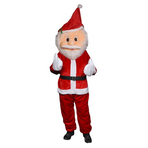 Dress Up America Men's Plush Santa Claus Mascot Costume, ...